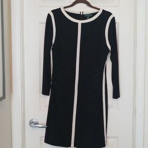 Ralph Lauren black dress w/ white stripes size14